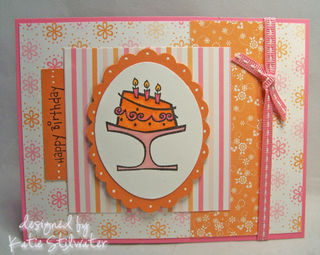 Pink and orange cake