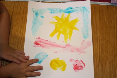 Izy painting